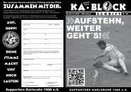 AUFSTEHN, WEITER GEHT´S! - Supporters Karlsruhe 1986 eV