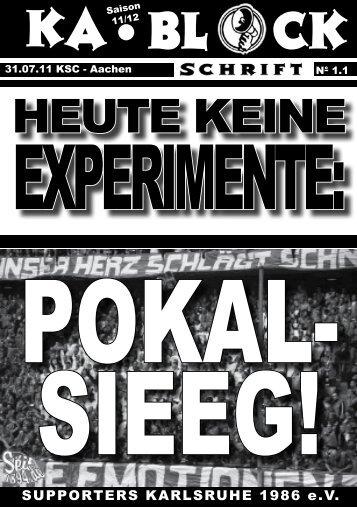 blockschrift 2 - Supporters Karlsruhe 1986 eV