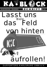 blockschrift 13 - Supporters Karlsruhe 1986 eV