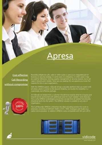 Call Recorder Apresa.indd - Suprag AG