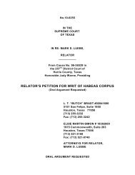 relator's petition for writ of habeas corpus - Supreme Court of Texas