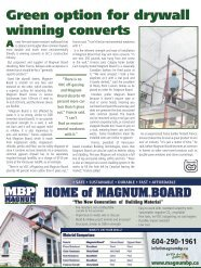 Green option for drywall winning converts