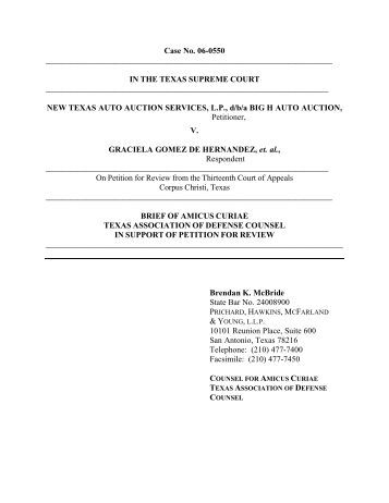 Amicus Curiae Brief of TADC - Received - Supreme Court of Texas