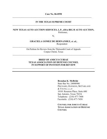 Amicus Curiae Brief, Austin American Statesman - Supreme Court of ...