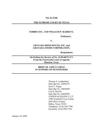 Amicus Curiae Brief, Austin American Statesman - Supreme Court of ...