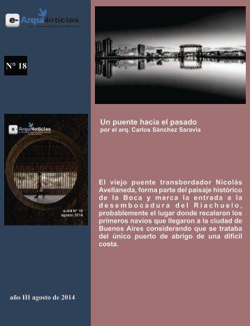 e-An N° 18 nota N° 10 Un puente hacia el pasado por el Arq. Carlos Sánchez Saravia