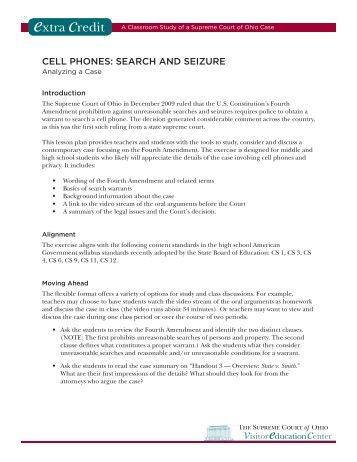 Search, Seizure And Cellphones | On Point