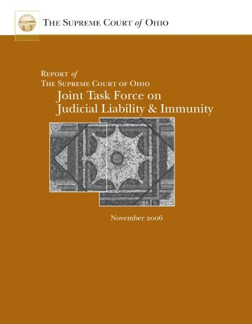 Joint Task Force on Judicial Liability & Immunity - Supreme Court ...