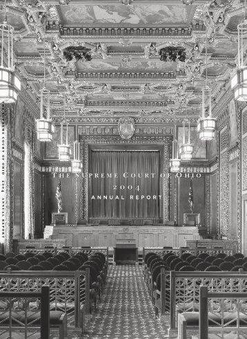 Supreme Court of Ohio 2004 Annual Report - Supreme Court - State ...