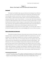 Chapter 1 History of the Family Court Movement and Literature Review