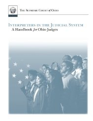 A Handbook for Ohio Judges - Supreme Court
