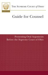 guide for presenting oral argument - Supreme Court