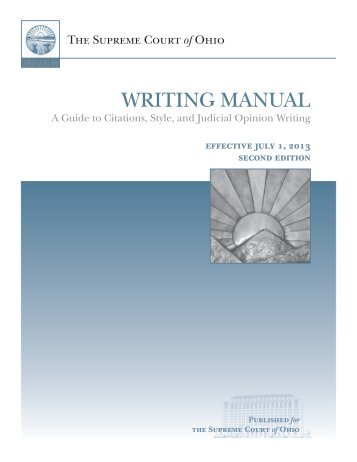 WRITING MANUAL - Supreme Court - State of Ohio