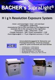BACH ERs SupraLight ® H igh Resolution Exposure System - Surplex