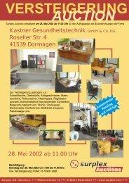 versteigerung auction - Surplex