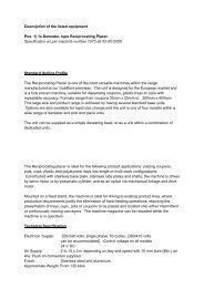 Description of the listed equipment Pos. 1) 1x Denester ... - Surplex