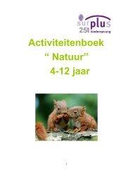 """Activiteitenboek """" Natuur"""" 4-12 jaar - Surplus Kinderopvang"""