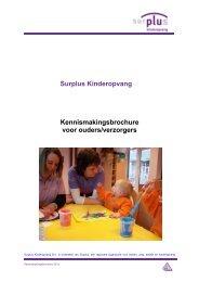 Kennismakingsbrochure 2013 - Surplus Kinderopvang