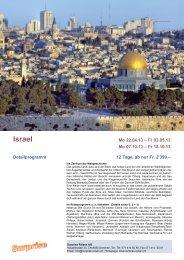 Israel - Surprise Reisen