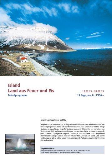 Island Land aus Feuer und Eis - Surprise Reisen