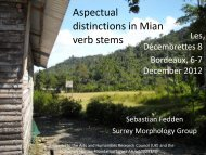 Aspectual distinctions in the Mian verb - University of Surrey
