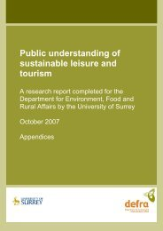 Sustainable Tourism and Leisure appendices.pdf - University of Surrey