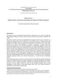 Islam in Greece: Religious identity and practice among indigenous ...