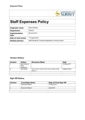 Cdkn Expenses Pol Cdkn Expenses Policy Nses Policy
