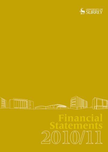 Financial Statements 2010-11 - University of Surrey