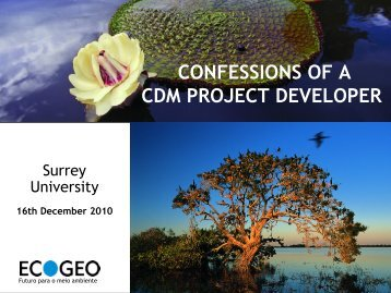 Tim Cowman Presentation - University of Surrey