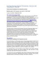 ESR6: FEM modelling of roll compaction. - University of Surrey