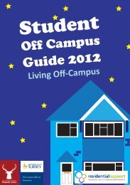 Living Off Campus Guide - University of Surrey
