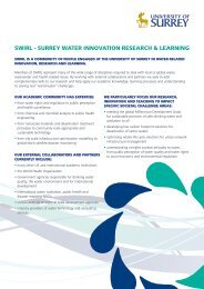 swirl - surrey water innovation research & learning - University of ...