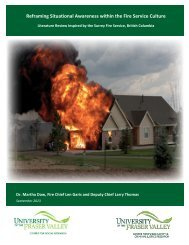Reframing Situational Awareness within the Fire ... - City of Surrey