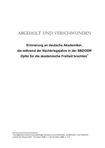 ABGEHOLT UND VERSCHWUNDEN - Bund Freiheit der ...