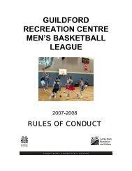 guildford recreation centre men's basketball league - City of Surrey