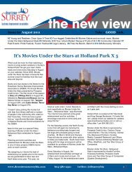 The New View - August 2011 - City of Surrey