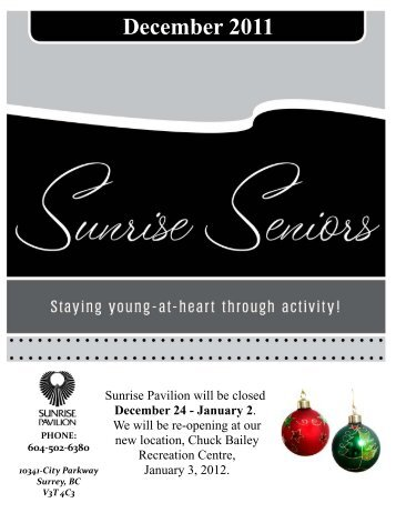December Newsletter - City of Surrey