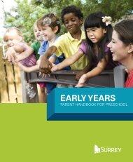 Preschool Parent Handbook - City of Surrey