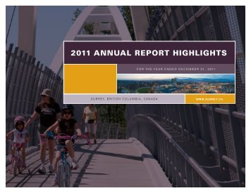 2011 ANNUAL REPORT HIGHLIGHTS - City of Surrey