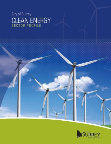 Clean Energy Sector Profile - City of Surrey