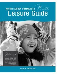 Leisure Guide - City of Surrey