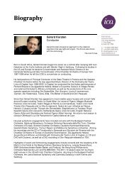 Biography - International Classical Artists