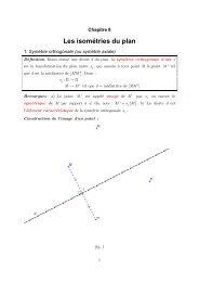 Chapitre 8 : Les isométries du plan