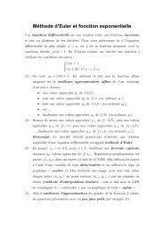 Méthode d'Euler et fonction exponentielle
