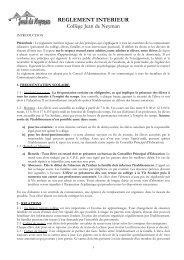 Règlement Intérieur Version juin 2010 commande imprimerie