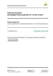 Erläuterungsbericht - Moosseedorf