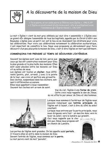 A la découverte de la maison de Dieu - Diocèse d'Annecy