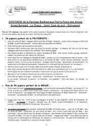 Rencontre des communautés du haut de la Vallée - Diocèse d'Annecy