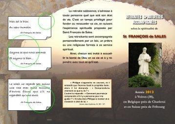 télécharger le dépliant en cliquant ici - Diocèse d'Annecy